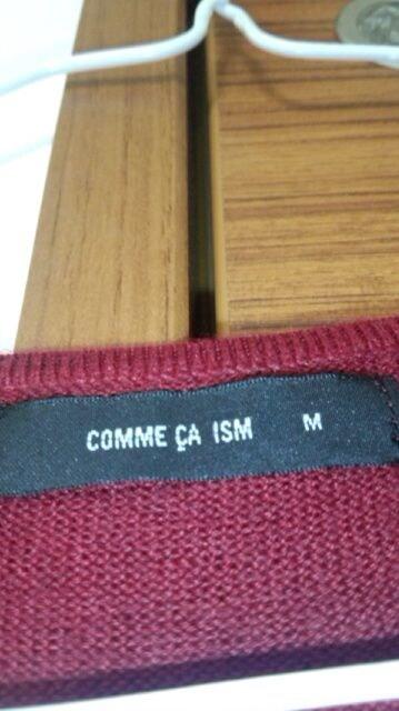 COMME CA ISMボルド-カラ-のシンプルニット < ブランドの