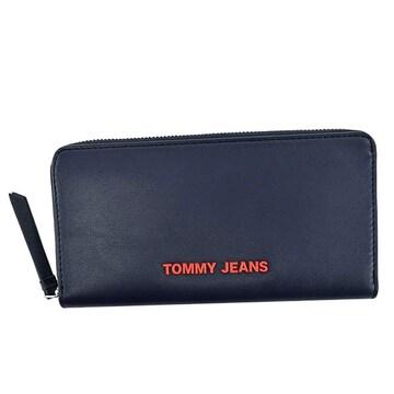 ★トミージーンズ ラウンドファスナー長財布(NV)『AW0AW08596』★新品本物★