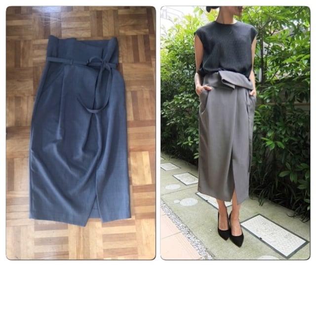 新品タグ付きenfold エンフォルド デザインスカート  < ブランドの