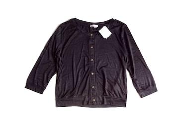 新品 定価1780円 コルザ ハニーズ 花ボタン  カットソー 黒