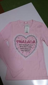 新品未使用タグ付き・TRALALA 長袖Tシャツ・Fサイズ・ピンク