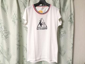 新品未使用ルコック半袖Tシャツ白色ロゴホワイトトリコロールUV