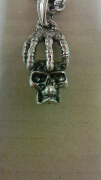 ドクロボーンネックレスロカビリーサイコビリークリームソーダ骸骨ガイコツ髑髏