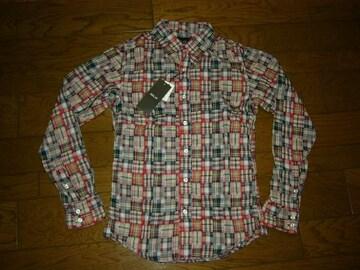 新品win&sonsパッチワークチェックシャツ1ウィンアンドサンズ