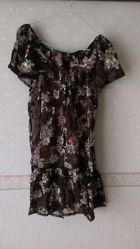 新品タグ付☆IORI花柄ワンピM