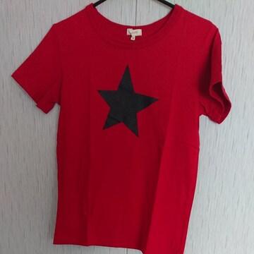 HUSHUSH☆星柄のTシャツ☆size150☆赤