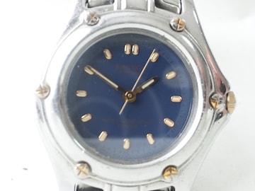 10518/シチズンJUNCTIONネイビーダイヤルダイバー型モデルレディース腕時計★