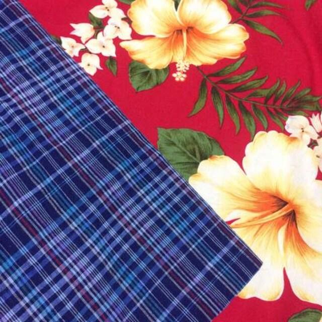 爽やかブルーのチェックスカート☆フレア☆Aライン☆Sサイズ☆ < 女性ファッションの