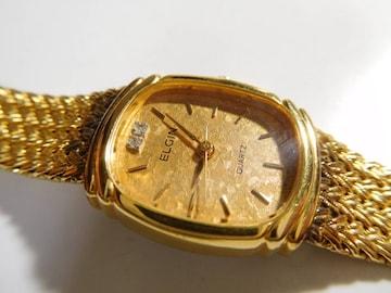 エルジン の腕時計レディース クォーツ製 動作確認済!