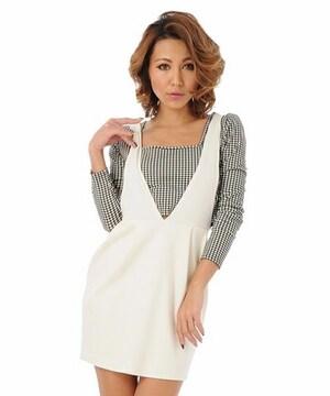 即完売★デュラス★コクーンポンチジャンパースカート ホワイト/F 新品タグ付 未開封