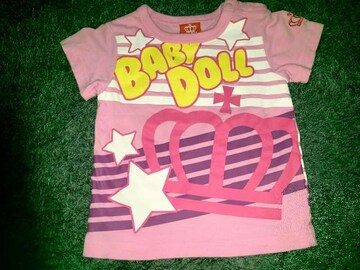 #BABYDOLL#半袖Tシャツ80 ベビードール派手カワ 重ね着にも