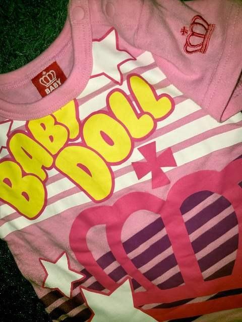 #BABYDOLL#半袖Tシャツ80 ベビードール派手カワ 重ね着にも < ブランドの