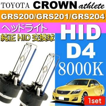 クラウン D4C D4S D4R HIDバルブ 35W8000Kバーナー 2本 as60558K