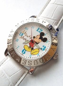 Mickey Mouse 腕時計 ミッキーマウス 風防ガラス キズキズ付