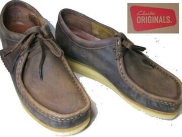 クラークス ワラビー新品ローカット ブーツ 37989us9.5