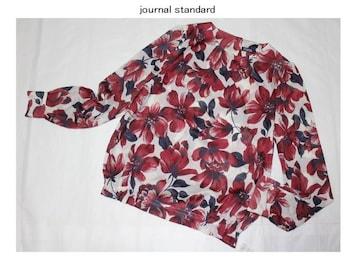 ジャーナルスタンダード*journal standard★ツイルカルゼ花柄ブラウス/新品