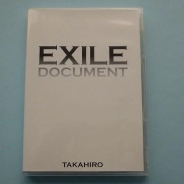 DVD EXILE DOCUMENT TAKAHIRO / DVD 1枚 送料込み