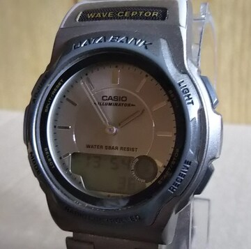 CASIO WVA-100 DATA BANK 電波 クォーツ メンズ 腕時計
