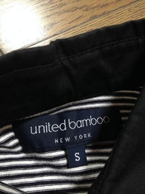 美品United bamboo ボーダー襟付カットソー 日本製 ユナイテッド < ブランドの