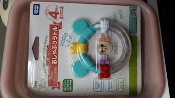 新品ディズニーおしゃぶりラトル ミッキーマウス