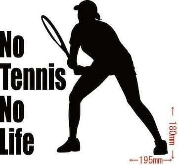 カッティングステッカー No Tennis No Life (テニス)・13