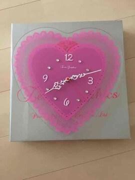 掛時計/ガラスウォールクロック/ピンク/ZWG-1147 PK