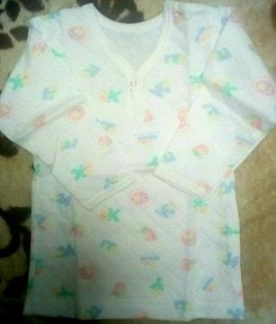 新品☆100cm長袖シャツ肌着2枚セット☆キルト素材と綿ふんわり