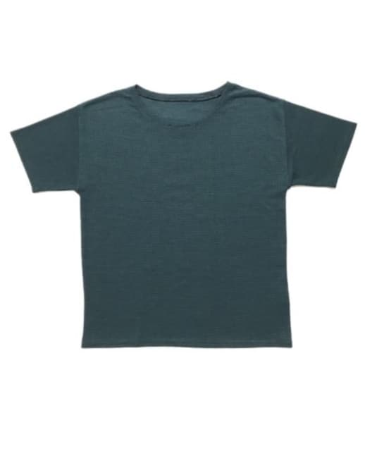 ☆OZOCオゾック半袖Tシャツ黒緑ニットソー(M)ホボ新品  < ブランドの