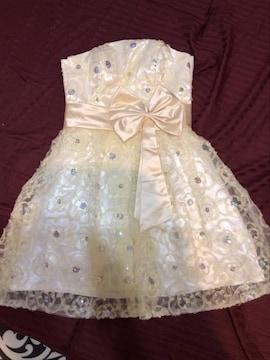 結婚式.キャバ☆ホワイトクリームレースミニドレス