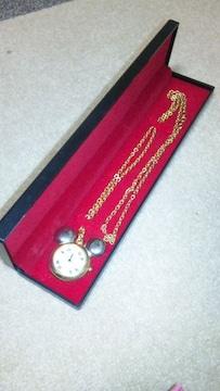 ★新品ミッキーの形の時計ネックレス