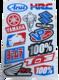 送料無料 ステッカー モーター スポーツ   12枚セット N539