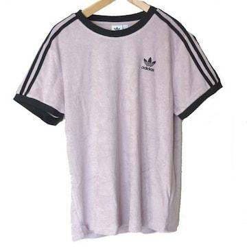 新品●送料無料●adidas originalsバイオレット3stTシャツ(L)