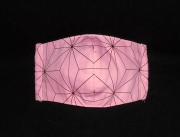 即決◆�B鬼滅の刃 麻の葉ピンク 禰豆子◆ファッションマスク