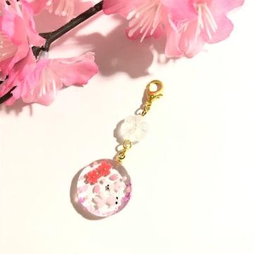 ★桜と2匹の金魚さんのレジンチャーム・さくら・クリア・桜