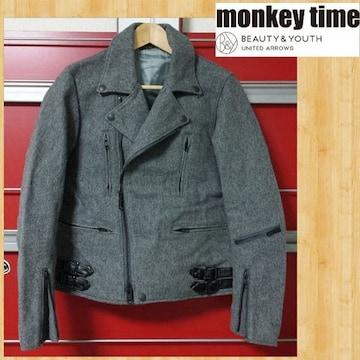 monkey time モンキータイム ウールメルトンライダースジャケット S ユナイテッドアローズ 美品