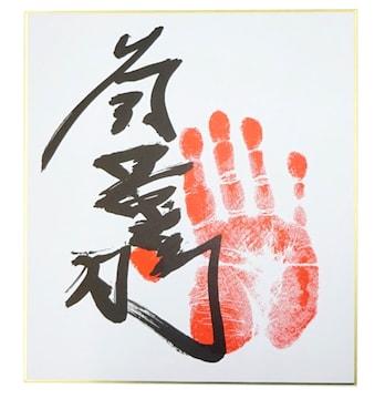 貴景勝 手形・サイン入り 色紙