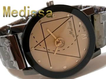 【送料無料】新品・未使用  Medissa 歯車がお洒落な腕時計
