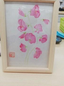 ☆激安☆綺麗なお花が描かれたフォトスタンド3点セット