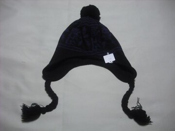 mb453 男 RIP CURL リップカール 耳当て ボンボン付き ニット帽