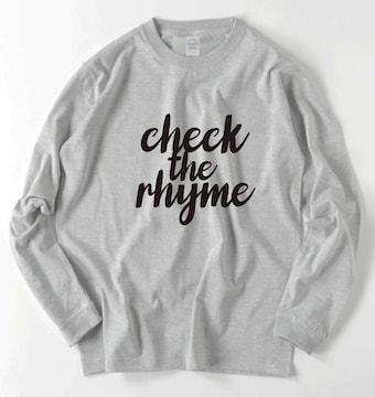 新品JANCHERIcheck the rhymeロングTシャツ送料込みS〜XL