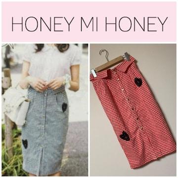 ☆HONEY MI HONEY ギンガムチェックタイトスカート☆
