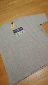 555トリプルファイブソウル プリントTシャツ グレー サイズXL→2XL位