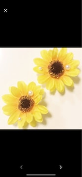 パール付き向日葵可愛いクロックスジビッズ1セットヘアピン可能
