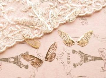 透かしパーツ蝶の羽10枚