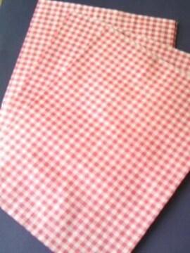 8才サイズ紙袋15枚★チェック赤☆A5が入るサイズ