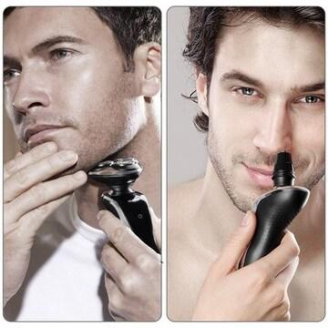 鼻毛/眉毛カッター、洗顔ブラシ、シェーバー用メンズ電動ひげ剃