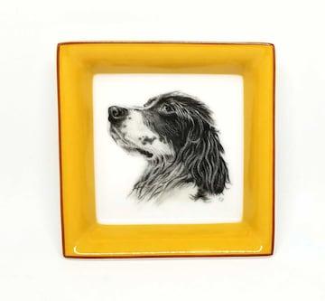 正規未使用エルメス小皿飾り皿トレートレイ犬皿イヌHERMES