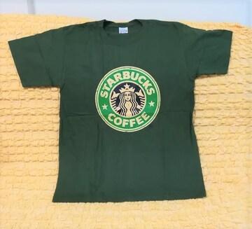 スターバックス★おもしろTシャツ★モスグリーン★緑★XL★