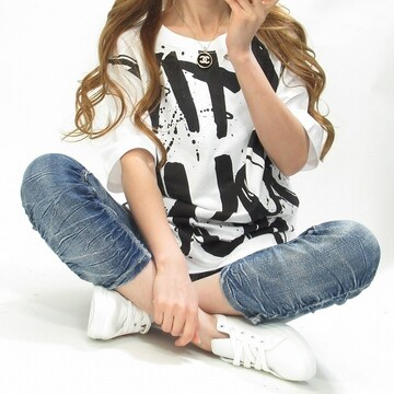 NEW最新BIGロゴBOYSストリートTシャツ/ユニセックス2173
