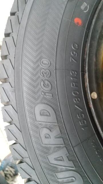 155/80R13 スタッドレス スチールホイール付き ヨコハマ < 自動車/バイク